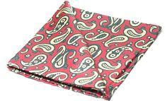 KELSO Printed Silk Pocket Square #menswear #pocketsquare #pocketsquares #silksquare #silkhandkerchief #handkerchief #menshandkerchief #silkhank #hanks #hankies #hanky #wedding #style #mens #fashion #accessories #dapper #dandy #finishingtouch #finishing #touches #sartorial #welldressed #chap #distinguishedgentleman #gentleman #red #vanilla #grey #slate #paisley