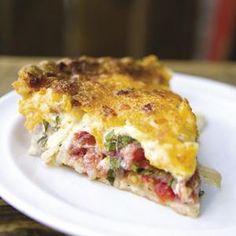 This terrific tomato pie is zingy and oh so tasty. Recipe by David Barnett for Charleston Magazine.