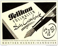 Original-Werbung/ Anzeige 1949 - PELIKAN FÜLLHALTER - ca. 110 x 180 mm