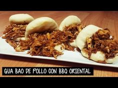 (1) GUA BAO DE POLLO CON BARBACOA ORIENTAL | Bocadillo Taiwanés al vapor - YouTube Gua Bao, Barbacoa, Bao Buns, Oriental Food, Steamed Buns, Tasty, Yummy Food, Food Decoration, Pulled Pork