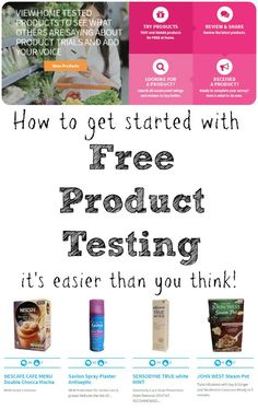 How to get started with free product testing. It's easier than you think! If you haven't done this, you should definitely give it a try