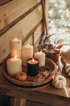 At Home With Votivo Candles Cozy Aesthetic, Autumn Aesthetic, Brown Aesthetic, Aesthetic Grunge, Aesthetic Vintage, Aesthetic Anime, Diy Candles, Candle Jars, Image Yoga