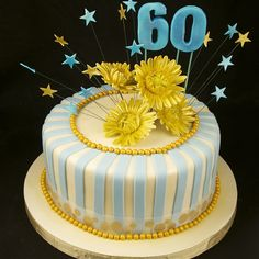 60TH BIRTHDAY CAKE CM0450