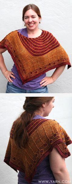 Catkin shawl by Carina Spencer in Madelinetosh Tosh Sock knit by Heidi