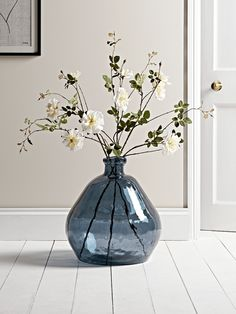 Grey Fluted Tea Light Holder - Home Accessories Decor Blue Glass Vase, The Colour Of Spring, Vase Arrangements, White Vases, Faux Flowers, Tea Light Holder, Vases Decor, Home Decor Accessories, Room Decor