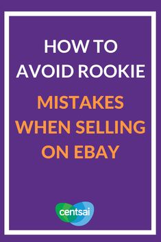 How to Avoid Rookie Mistakes When Selling on eBay. Got tons of things you don't want? Learn how to sell on eBay and make some extra dough. Just be careful of certain rookie pitfalls. #eBay #sidehustle #technologyblog Make More Money, Extra Money, Make Money Online, Extra Cash, Ebay Selling Tips, Selling Online, Amazon Sale, Sell On Amazon, Money Tips