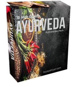 In this PLR Content Pack You'll get 10 High Quality Ayurveda PLR Articles with Private Label Rights to help you dominate the Ayurveda market Ayurveda, Private Label, Natural, Body, Articles, Packing, Marketing, Cover, Tips