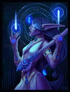 Priestess of Elune by Mahkara.deviantart.com on @DeviantArt