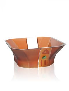 The California Series by Womar presents handblown glass vases and bowls in amber hues and beautiful shapes. This bowl is a work of art. 9.84 x 9.84 x 3.94 inches in dimension Interior Place - California Series Glass Bowl, $68.40 (http://www.interiorplace.com/california-series-glass-bowl/)