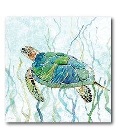 Love this Sea Turtle Swim II Wrapped Canvas on #zulily! #zulilyfinds