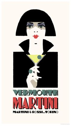 Art Deco Martini poster by www.newvintageposters.com