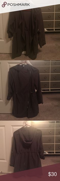 Cute Jacket/Blouse Olive green worn once. No flaws Tops Blouses