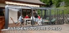 Look at the man opening the enclosure with just one finger! Different uses of retractable patio enclosure CORSO by Alukov