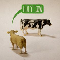 """""""Holy Cow"""" - A Giclée Print by Aled Lewis  #inprnt #print #art #Illustration $20.00"""