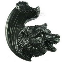Sierra Lifestyles, Bear with Claw Cabinet Knob - Right Facing - Black