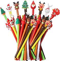 Amazon.com: christmas pens Educational Christmas Gifts, Christmas Gifts For Adults, Christmas Holidays, Christmas Tree, Holiday Wishes, Holiday Gifts, Reindeer, Snowman, Gel Ink Pens