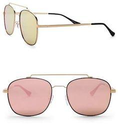 53034fe831 QUAY AUSTRALIA Women s To Be Seen 56mm Navigator Sunglasses