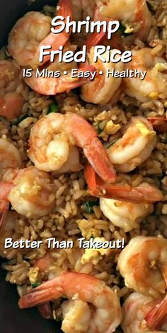 Hypoallergenic Pet Dog Food Items Diet Program This Healthy 5 Minute Shrimp Fried Rice Recipe Is A Quick, And Delicious Dinner That's Better Than Takeout For Low Carb Version Simply Swap Out Brown Rice For Cauliflower Rice Easy Shrimp Fried Rice Recipe, Fried Rice Recipe Chinese, Shrimp And Rice Recipes, Shrimp Recipes For Dinner, Brown Rice Recipes, Shrimp Dishes, Fish Recipes, Seafood Recipes, Healthy Recipes