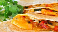 Vegetarian Quesadillas Making the most of simple, fresh ingredients found at your local Farmers MARKET, these quesadillas make great appetizers or a quick and healthy meal. Serve while hot with your favorite salsa, sour cream, and guacamole. Veggie Recipes, Mexican Food Recipes, Vegetarian Recipes, Cooking Recipes, Healthy Recipes, Vegetarian Mexican, Pescatarian Recipes, Veggie Meals, Skillet Recipes