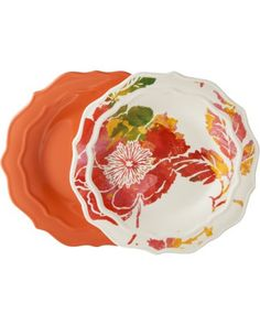 Tar Hong Threshold Scalloped Appetizer Plate Set of 8 - Coral from Target | BHG.com Shop