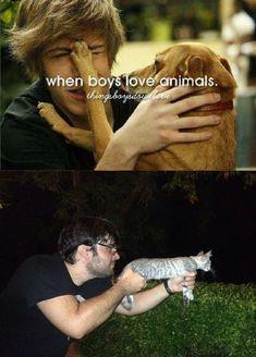 When boys love animal