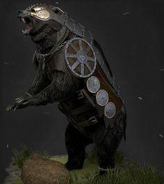 ArtStation - Rexxar and Misha: I'm always alone, Konstantin Ilyin Fantasy Character Design, Character Inspiration, Character Art, Beorn Hobbit, Fantasy Creatures, Mythical Creatures, Fantasy World, Fantasy Art, Saga Art