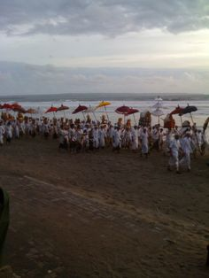 balinese ceremony in Seminyak beach