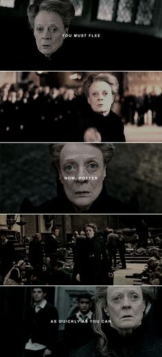 """"""" The scream was the more terrible because he had never expected or dreamed that Professor McGonagall could make such a sound. He heard another woman laughing nearby, and knew that Bellatrix gloried in McGonagall's despair. First Harry Potter, Harry Potter Fan Art, Harry Potter Fandom, Harry Potter Characters, Harry Potter Hogwarts, Harry Potter Memes, Scorpius And Albus, Funny Life Hacks, Harry And Hermione"""