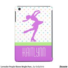 Lavender Purple Skater Bright Pastel Polka-Dots iPad Mini Cover