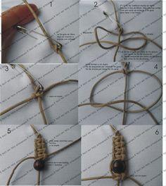 É fácil ser feliz - artesanais: Passo-a-passo - colar e pulseira em macramê - nó duplo