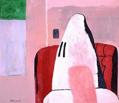 The Room, 1970 by Philip Guston. Neo-Expressionism. interior