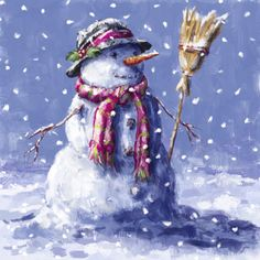 Snowman and Broom - art by Marcello Corti, via advocate-art