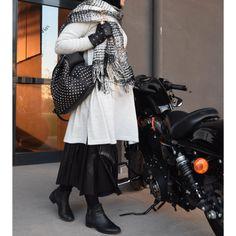 Tuniği Etekle Giymek İsteyenlere Triko Tunik-deri Etek Tkm