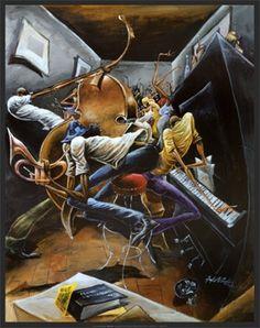 Rent Party - 28x22 print - Frank Morrison