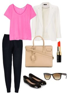 7 days without jeans - 1 joggins by nathaliagoomes on Polyvore featuring polyvore, fashion, style, Splendid, Wallis, STELLA McCARTNEY, Accessorize, Yves Saint Laurent, Ray-Ban and Bobbi Brown Cosmetics