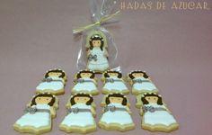 GALLETAS NIÑA COMUNIÓN INES  HADAS DE AZUCAR GUADALAJARA / GIRL FIRST COMMUNION COOKIES