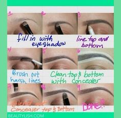 Perfect eyebrows. How to: