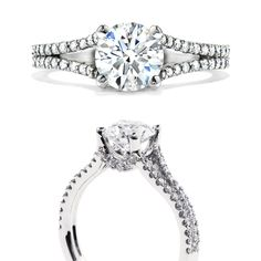double shank engagement rings - Google Search