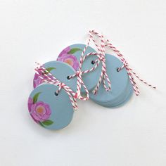 Round Favour Tags. BerinMade