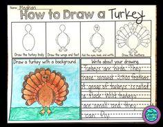 How to Draw a Turkey! Thanksgiving Freebie!