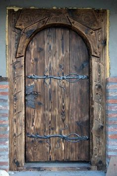 Others, wooden doors – entrance doors, forged hinges- PozostaĹe, drzwi drewniane â … Cool Doors, The Doors, Windows And Doors, Sliding Doors, Old Wooden Doors, Rustic Doors, Antique Doors, Entrance Doors, Doorway
