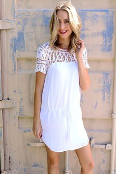 Vienna Dress @unhingedboutik. Order www.unhingedboutique.com. White crochet dress at Unhinged Boutique