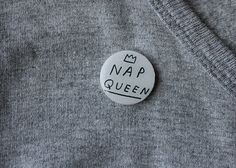 Hey, I found this really awesome Etsy listing at https://www.etsy.com/listing/219427751/nap-queen-circle-brooch