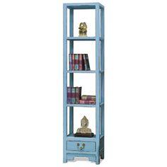 Elmwood Zen Bookcase blue Asian etagere #colorfurnitute