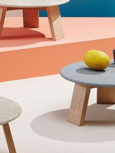 Beller Studio #maya #table #concrete #wood #marble