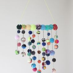 Multicolor Speckle Talisman Mobile by Dana Haim