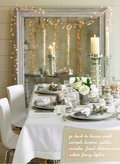 Déco de table en blanc pour Noël