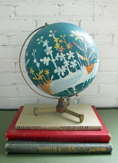 Декор старого глобуса SKRMASTER.KZ — Handmade Казахстана