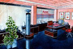 DECORACIÓN: Proyecto de despacho de Dirección para ABB (Madrid) - Acuarela