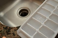Deordorize your garbage disposal with vinegar cubes.  Sounds like a great idea to try out!